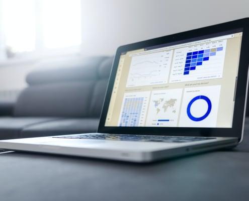 Image d'un ordinateur illustrant la formation Utilisation de Tableur