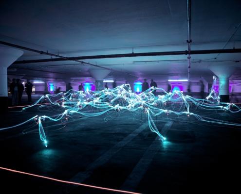 image d'illumination de fibre optiques